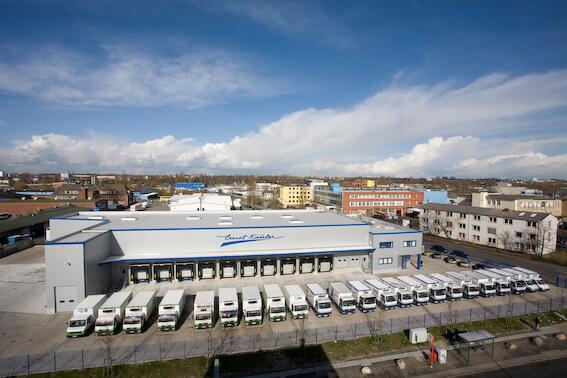 Firmengelände von Sahne Kähler in Hamburg